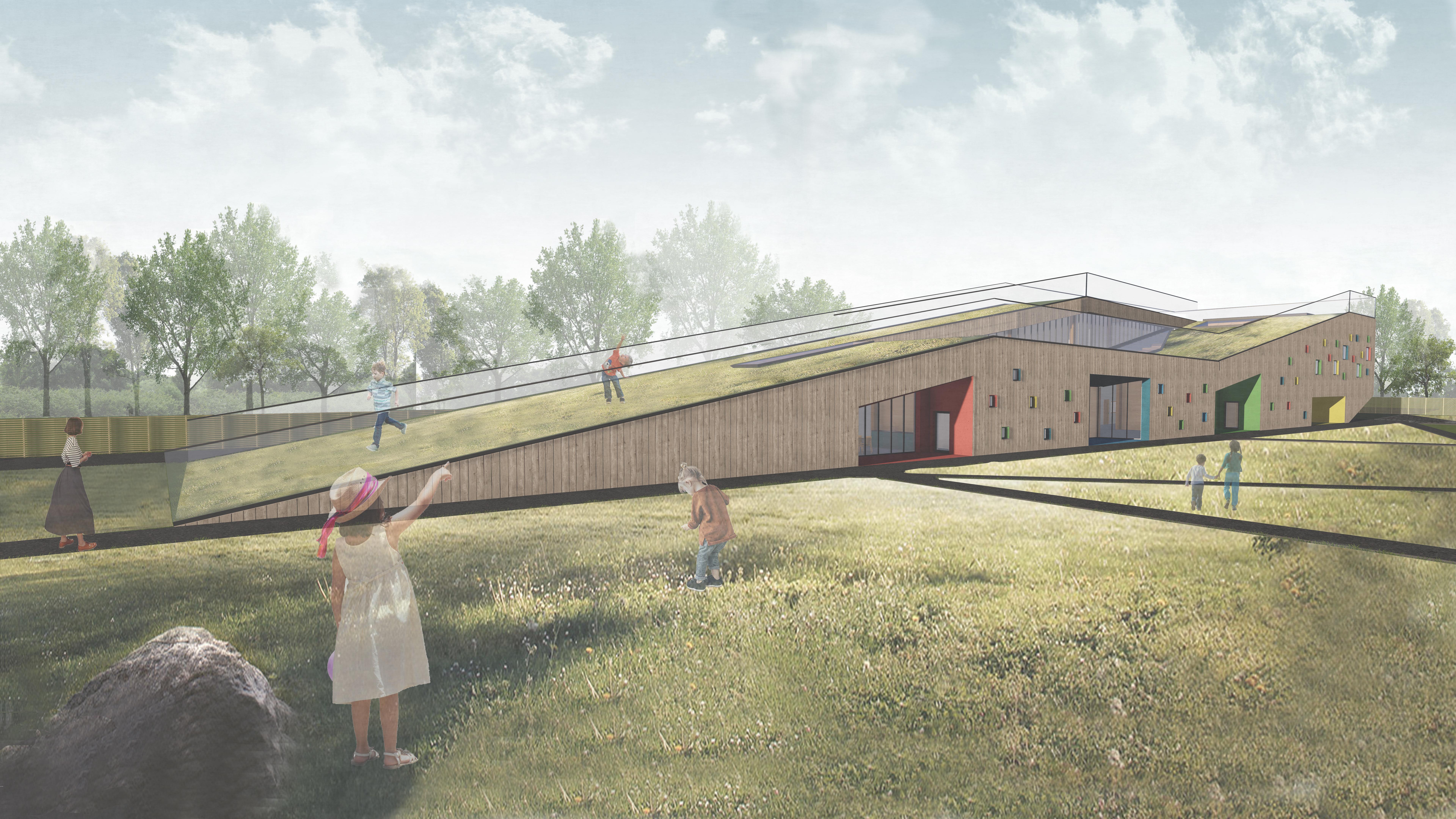 verejnost drevene stavby velke materska skola